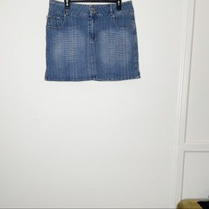 APOLLO jeans mini skirt. Mid wash. Size XL